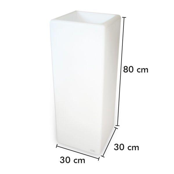 Pot de fleur Rectangle rechargeable 80cm Intérieur/Extérieur