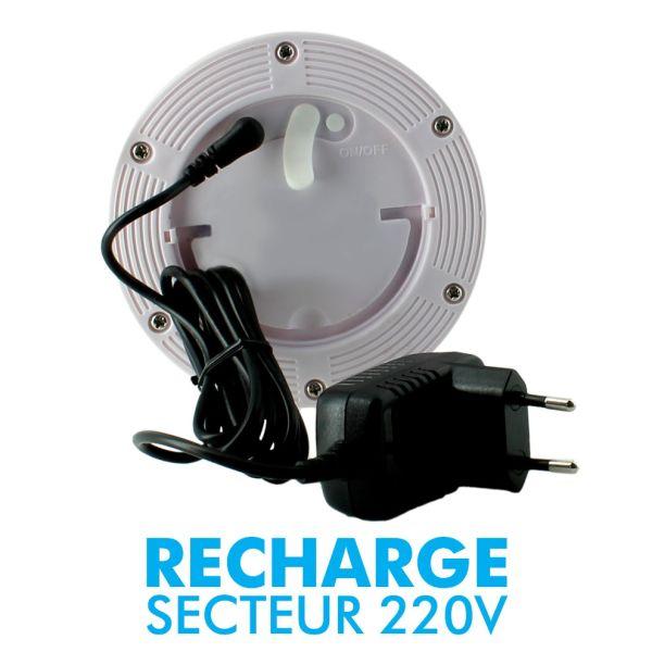 Colone Cylindrique Rechargeable LED 115cm Intérieur Extérieur