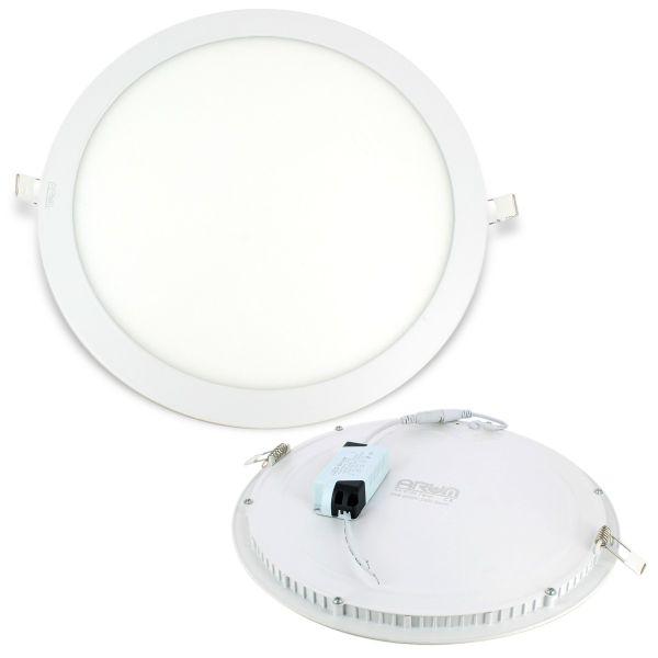 Plafoniera da incasso a LED ultra sottile rotonda 24W + Driver