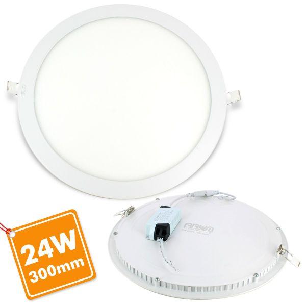 Foco empotrable LED 24W Round ultra slim + Driver