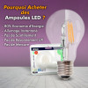 Ampoule LED 10W R80 Blanc chaud