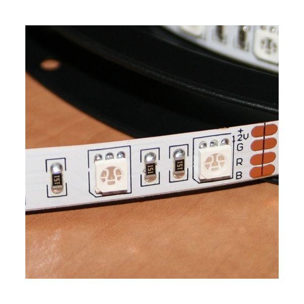 Striscia LED SMD5050 12V DC 5M alta potenza bianco caldo IP20