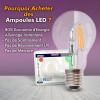 Ampoule LED E27 G125 Filament 8W