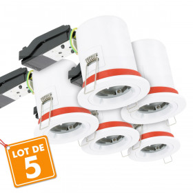 Lot de 5 Supports de spot BBC D88 avec douille GU10 automatique