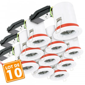 Lot de 10 Supports de spot BBC D88 avec douille GU10 automatique