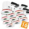 Lot de 10 Supports de spot Orientable BBC D100 avec douille GU10 automatique