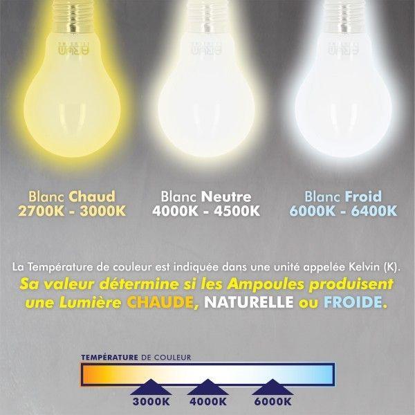 Lot de 10 Ampoules E27 6W Filament eq. 60W blanc chaud 2700K