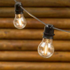 Guirlande Guinguette E27 filaments LED 10 ampoules Blanc chaud