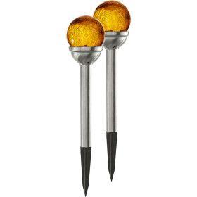 2 Balises solaire décorative ambrée PATH LIGHT
