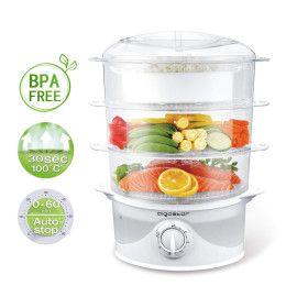 Cuiseur vapeur électrique 0% BPA. Puissance de 800W, minuterie