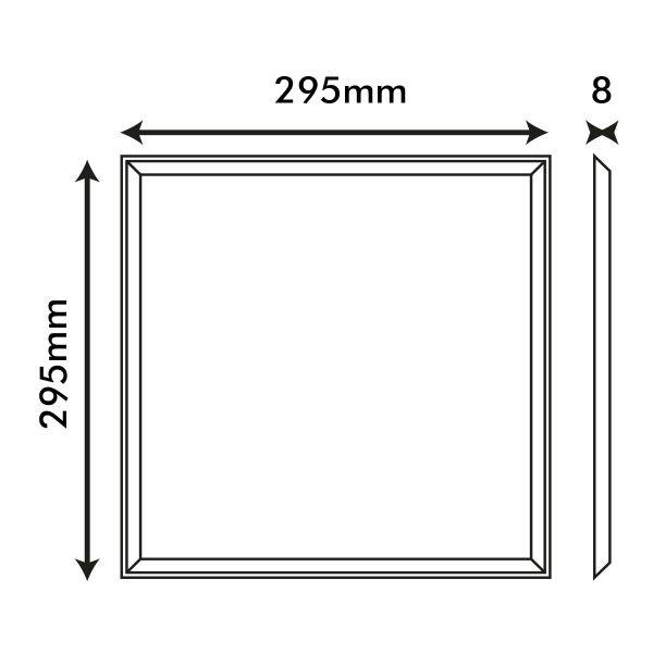 Dalle LED 30x30 aluminium